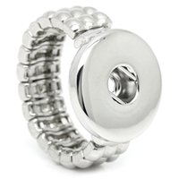 Wholesale NOOSA Fashion Elastic Rope Style DIY Chunk Snap Button Ring DIY Noosa Jewelry for Free Style