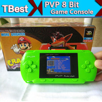 Wholesale DHL PVP Handheld Game Console inch LCD PVP Station Bit Video TV Game Player Retail Box Free Game Card For Kids Gifts