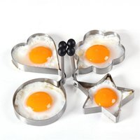 Wholesale 4Pcs set Big Size Stainless Steel Kitchen Cooking Tools Love Flower Star Shaped Biscuit Mold Set Fried Egg Pancake Mold