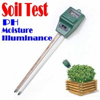 Wholesale BY DHL OR EMS pieces New Arrivals Mini in Plant Flowers Soil Test Kits PH Tester Moisture Meter Illuminance Analyzer