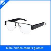 Precio de Cámara espía venta caliente-800C ocultaron los vidrios de la cámara 1080P vendiendo las gafas de sol vendedoras calientes del espía de la videocámara del engranaje del espía las gafas de sol del aviador del hd 720p espían la leva