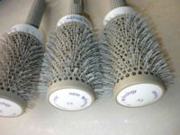 Wholesale OEM product Ceramic Iron Round Comb mm Styling Brush Barrel Ceramic Iron Round Comb Hair Dressing Hair Salon