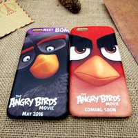angry iphone - Angry Birds Matte cartoon iphone cases Hybrid waterproof PC Cellphone Cases for iphone s plus s SE Hot selling High quality