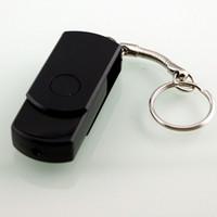 achat en gros de mini-clé usb de la chaîne-360 degrés Mini USB flash drive Forme clé chaîne 1280 * 960 Caméra cachée DV DVR Enregistreur vidéo Caméscope