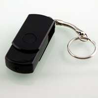 Wholesale 360 degree Mini USB flash drive Shape Key Chain Hidden Camera DV DVR Video Record Camcorder
