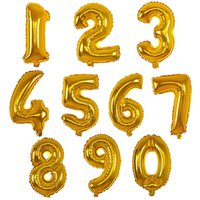 balloon travel - wedding anniversary Aluminum film balloon birthday party wedding decoration bright gold foil balloons inches travel bag