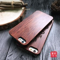 bamboo wood carving - Classical Retro iPhone s Wood Case Natural Cover for Apple Plus se Genuine Walnut Bamboo Carving Designs Wood Slice Durable Plastic DHL