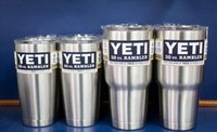 Wholesale YETI Stainless Tumbler oz oz oz Clear Lid Rambler Cups for Yeti Coolers Cup Sports Mugs Large Capacity Stainless Steel Mug