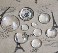 Wholesale 200pcs Domed Round Transparent Clear Glass Cabochons Cameo settings Glass Cover