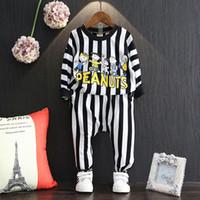 Wholesale Sports Harem Pants For Girls - Children clothing 2016 autumn tracksuit for girls clothing sets cartoon stripe letter sweater and harem pants sport suit for boy