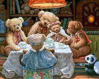 bear cross stitch - embroidery Crafts bedroom Home Decor diy D Teddy Bear gifts Full Diamond cross Stitch Rhinestone Diamond Painting souvenir