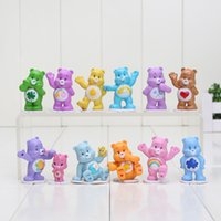 Wholesale 10sets Japanese Anime kawaii Action Figure Care Bears Best Kids Toys For Boys And Girls Gift Collect