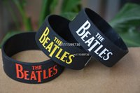 beatles bracelet - 25pcs THE BEATLES Silicone Filled in Colour Debossed Wristband Bracelet