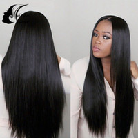 Wholesale Unprocessed Brazilian U Part Wig For Sale Silky Straight Human Hair Wigs For Black Woman Brazilian U Part Human Hair Wigs