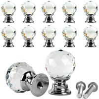 bar pulls cabinet - 10Pcs Beauty Crystal Glass Door Drawer Cabinet Wardrobe Pull Handle Knobs E00043 BAR