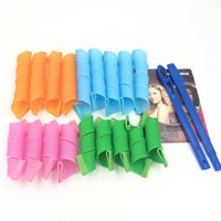 Wholesale 18pcs set CM CM DIY Magic Hair Curler hair Rollers Magic Circle Hair Styling Rollers ELC008