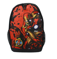 Wholesale Fashion Children Print Bags D Animal Bagpacks Superman Batman Spiderman Captain American Iron Man Personality Schoolbags For kids