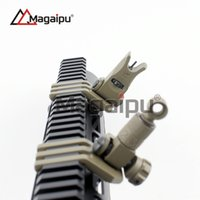 Wholesale Tactical AR15 M4 Front and Rear Offset Degree Flip Up Iron Sight for Rapid Transition Full Metal Folding Sights