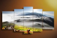 beautiful beach scenery - Free shopping piece landscape oil paintings canvas wall art beautiful scenery beach pictures for living room home decor