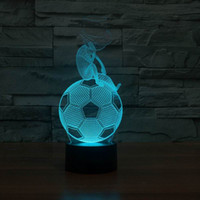 Wholesale 2016 New Excellent D LED Soccer Shape Holiday Indoor Night Light Table Lamp For Kids With USB Line