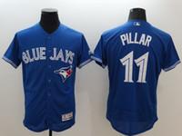 Wholesale 2016 new hot blue Toronto Blue Jays Pillar Stroman Tulowitzki Martin Donaldson Bautista Reyes MLB Baseball Jersey
