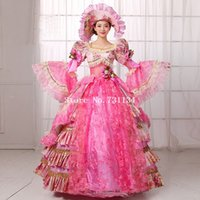 belle clothes - Hot Sale Pink Floral Civil War th Century Marie Antoinette Dress Ball Southern Belle Gown Reenactment Theatre Clothing Costume