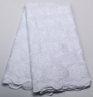 Wholesale African swiss voile lace high quality African net lace swiss voile lace material for dress white CP258B