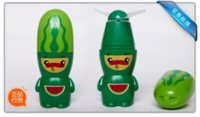 Wholesale Cartoon fruit fan with Rope Portable mini fan battery Summer Electric Cool Fan children fans Creative toys