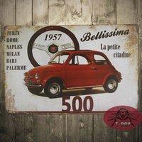 antique fiat - FIAT Retro Tin Metal Sign Plaque Home Decor Garage Pub Studio Workshop