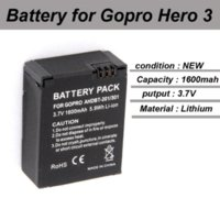 Wholesale 2 Battery Gopro Battery mah With Dual Charger for Go pro Hero Batteries Silver Edition amp Black Edition accessories
