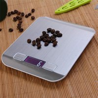 Wholesale LCD Digital Kitchen Scale Fingerprint proof Stainless Steel Platform g g Weighing Device with Backlight