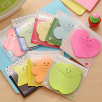 Wholesale Cute Creative Note Paper Notes New Cute Candy Color Parentage Stickers Shaped Sticky Notepad
