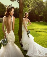 beautiful wedding pictures - Sexy Backless Wedding Dresses Best Beautiful Mermaid Wedding Dress Sweep Train Spaghetti Pearls Elegant Wedding Gown