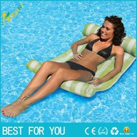 Wholesale New hot Stripe Water Hammock Lounger Pool Float Inflatable Air Mattress Swimming Pool Equipment Swimming Accessories