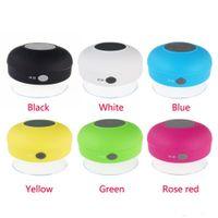 Wholesale HOT Portable Waterproof Wireless Bluetooth Audio Speaker Shower Car Handsfree mini Suction IPX4 speakers box player MP3 Mic