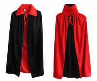 black hooded cloak - Double Face Satin Red Black Hooded Halloween Cloak Vampire Priate Cape