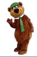 al por mayor traje de la mascota del oso yogui-traje de la mascota del oso Yogi tema de dibujos animados anime del traje de la mascota de encargo del vestido de lujo de lujo del traje de carnaval