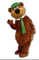 achat en gros de costume de mascotte yogi ours-Yogi Bear Mascot costume thème de bande dessinée costume anime mascotte de fantaisie personnalisée costume de carnaval de déguisements