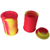Wholesale silicone oil barrel container jars dab wax vaporizer oil rubber drum shape container ml large food grade silicon dry herb tool