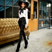 Wholesale Original Brand Autumn and Winter Trousers High Waisted Plus Size Slim Vintage Fashion Full Pants Women