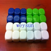 Wholesale 6 sided mm white round corners blank dice for ludo game board game