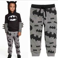 Wholesale Spring Autumn children Boys Cartoon Printed Pants kids Casual Grey sport pants Trousers Y C1230