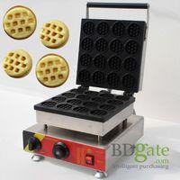 Wholesale 16pcs Commercial Use Non stick v v Electric Mini Round Waffle Stick Maker Iron Baker Machine