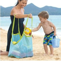 Wholesale Applied Enduring Children sand away beach mesh bag Children Beach Toys Clothes Towel Bag baby toy collection nappy