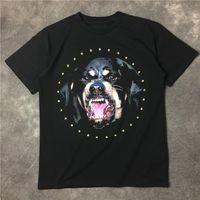 big dogs t shirt - GVC Europe and the United States tide brand new Edison Chan big dog dog diamond couples dress men and women T shirt