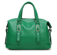 Wholesale Factory directShipping bags Free and high end fashion Pu portable satchel retro classic Boston Bag elegant woman handbag with large capacity
