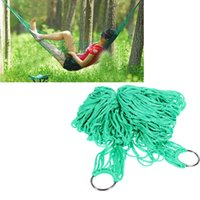 Wholesale High Strength Material Hammock Camping Yard Hanging Bed for Outdoor Activities Green