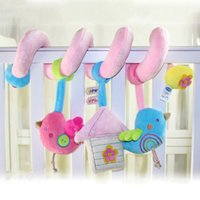 baby doll cot - Baby Crib Musical Toy Cot Stroller Hanging Rattle Infant Educational Toy Soft Plush Birds Doll Cute Newborn Gift