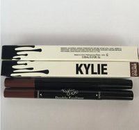 Wholesale 2016 Kylie liquid eyeliner Brown and Black in gel eyeliner High quality High Quality Hot