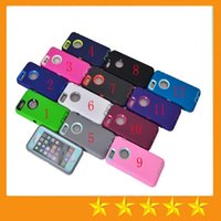 Wholesale 3 in Hybrid robot cases Silicone Plastic hard back Front Screen protector case skin cover for iphone S Plus S